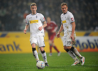 FUSSBALL   1. BUNDESLIGA   SAISON 2011/2012   23. SPIELTAG Borussia Moenchengladbach - Hamburger SV         24.02.2012 Marco Reus (li) und Mike Hanke (re, beide Borussia Moenchengladbach)  am Ball