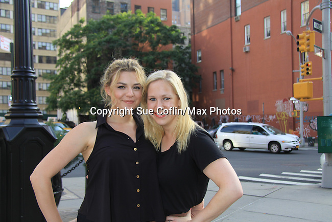 """GL Bonnie Dennison & Caitlin Van Zandt at the Season Four Premiere Party for Empire The Series """"Some of the Biggest Scandals Don't Make The Papers"""" on July 14, 2012 at the Tribeca Grand, New York City, New York with the cast. (Photo by Sue Coflin/Max Photos)"""