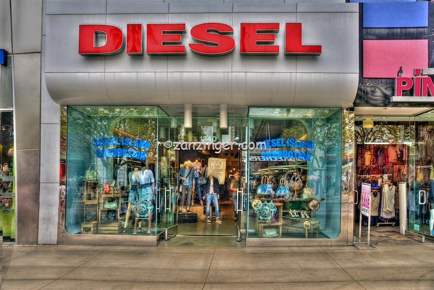 Diesel, Clothing Store, Third Street Promenade, Downtown,  Santa Monica, CA,