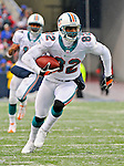 9 December 2007: Miami Dolphins wide receiver Derek Hagan in action against the Buffalo Bills at Ralph Wilson Stadium in Orchard Park, NY. The Bills defeated the Dolphins 38-17. ..Mandatory Photo Credit: Ed Wolfstein Photo
