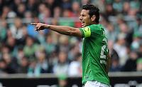 FUSSBALL   1. BUNDESLIGA   SAISON 2011/2012   32. SPIELTAG SV Werder Bremen - FC Bayern Muenchen               21.04.2012 Claudio Pizarro (SV Werder Bremen)