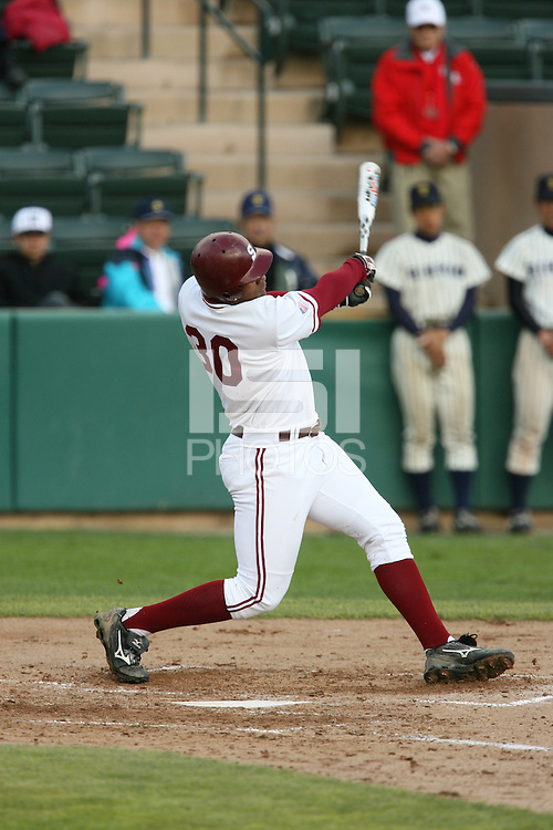 13 February 2007: Michael Taylor during Stanford's 5-1 exhibition win over Rikkio University at Sunken Diamond in Stanford, CA.