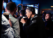 United States President Barack Obama takes a sip of Guinness beer as hevisits a bar in celebration of St. Patrick's day at the Dubliner Restaurant and Pub on March 17, 2012 in Washington, DC. Next week, Obama and Vice President Biden will meet the Irish Prime Minister Enda Kenny and attend a St. Patrick's Day lunch at the Capitol. .Credit: Joshua Roberts / Pool via CNP