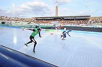 SCHAATSEN: AMSTERDAM: Olympisch Stadion, 02-03-2014, KPN NK Sprint/Allround, Coolste Baan van Nederland, Christijn Groeneveld, Arjen van der Kieft, ©foto Martin de Jong
