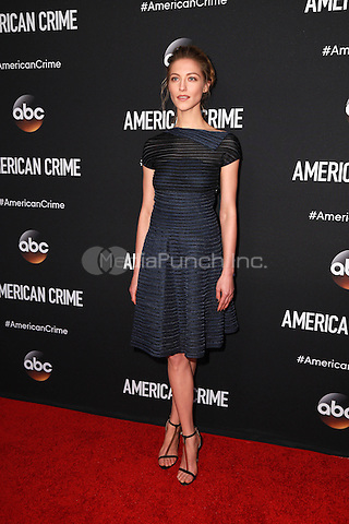 LOS ANGELES, CA - FEBRUARY 28: Caitlin Gerard at the American Crime Premiere at the Ace Hotel in Los Angeles, California on February 28, 2015. Credit: David Edwards/DailyCeleb/MediaPunch