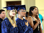 Waterbury, CT- 13 June 2016-061316CM03-Enlightenment School graduates Ciara Rosado and Ricardo Rosado take part in the Enlightenment Program graduation at City Hall in Waterbury on Monday.      Christopher Massa Republican-American