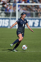 Cary, North Carolina - Sunday December 6, 2015: Kaleigh Riehl (3) of the Penn State Nittany Lions controls the ball during first half action against the Duke Blue Devils at the 2015 NCAA Women's College Cup at WakeMed Soccer Park.  The Nittany Lions defeated the Blue Devils 1-0.