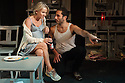 """Chicken"", starring Lisa Maxwell and Craig Kelly opens at the Trafalgar Studios. Picture shows:  Lisa Maxwell and George Georgiou."