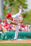 2 March 2013: St. Louis Cardinals pitcher Adam Wainwright on the mound during a Spring Training game against the Washington Nationals at Roger Dean Stadium in Jupiter, Florida. The Nationals defeated the Cardinals 6-2 in their first meeting since the NLDS series in October of 2012. Mandatory Credit: Ed Wolfstein Photo *** RAW (NEF) Image File Available ***