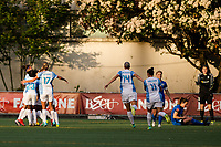 Seattle, WA - Sunday, May 21, 2017: Orlando Pride during a regular season National Women's Soccer League (NWSL) match between the Seattle Reign FC and the Orlando Pride at Memorial Stadium.