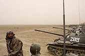 Northern Afghanistan <br /> October 2001<br /> <br /> A Northern Alliance tank unit stands ready and waiting for the Americans to fight with them.<br /> <br /> Commanders in this unit complained that the Americans can not win this war with bombs and will fall in to the same trap as the Soviets.