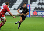 James Hook on the attack. Ospreys V Worcester Warriors, EDF Energy Cup  © Ian Cook IJC Photography iancook@ijcphotography.co.uk www.ijcphotography.co.uk