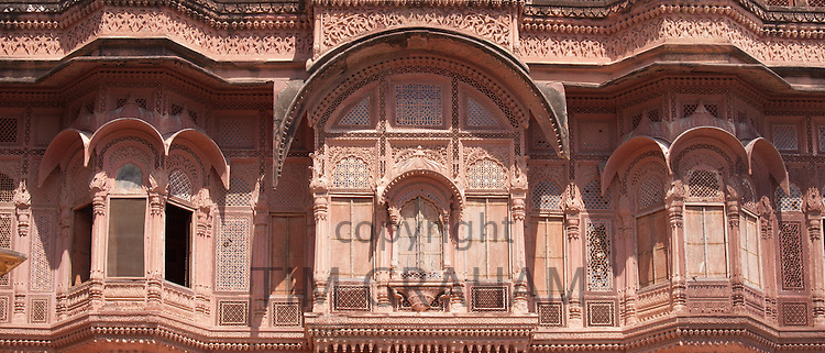 Mehrangarh Fort 18th Century section, The Armoury, at Jodhpur in Rajasthan, Northern India