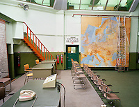 The operations room of the Belgian army used during the Cold War.. CHECK with MRM/FNA