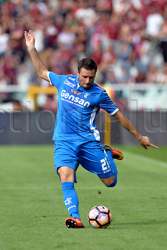 19.09.2016. Stadio Olimpico, Torino, Italy. Serie A Football. Torino versus Empoli. Manuel Pasqual crosses the ball