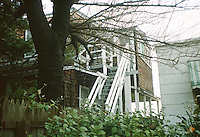 1993 June 18..Conservation.Cottage Line..BEFORE REHAB.1734 EAST OCEAN VIEW AVENUE.EXTERIOR STAIRS TO 2ND STORY...NEG#.NRHA#..