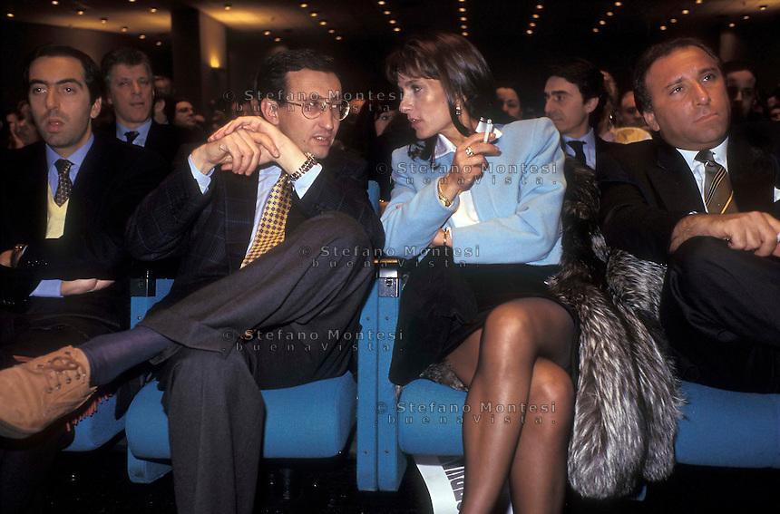 Roma Aprile 1994 .Gianfranco Fini  e la moglie Daniela Di Sotto