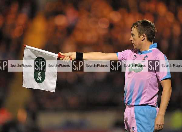 Linesman flag and kit  - PHOTO: Mandatory by-line: Garry Bowden/SIPPA/Pinnacle - Photo Agency UK Tel: +44(0)1363 881025 - Mobile:0797 1270 681 - VAT Reg No: 768 6958 48 - 28/10/2013 - Rugby League World Cup 2013, Fiji v Ireland, Spotland Stadium, Rochdale, England