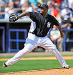 5 March 2011: New York Yankees' pitcher CC Sabathia on the mound during a Spring Training game against the Washington Nationals at George M. Steinbrenner Field in Tampa, Florida. The Nationals defeated the Yankees 10-8 in Grapefruit League action. Mandatory Credit: Ed Wolfstein Photo