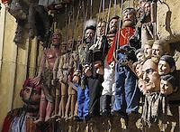 Some of the puppets created by Cuticchio..Pupi creati dall'artista Cuticchio...