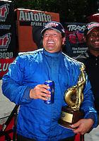 May 6, 2012; Commerce, GA, USA: NHRA  top dragster driver Ed Richardson during the Southern Nationals at Atlanta Dragway. Mandatory Credit: Mark J. Rebilas-