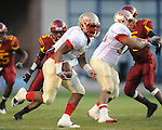 Lafayette High's Demarkous Dennis (5) runs 83 yards for a touchdown vs. Laurel in the MHSAA Class 4A championship game at Mississippi Veterans Memorial Stadium in Jackson, Miss. on Saturday, December 3, 2011. Lafayette won 39-29, the team's 32 straight win, to capture their second consecutive state championship.