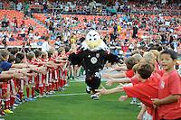 D.C. United mascot Talon.  D.C. United defeated Toronto FC 3-1 at RFK Stadium, Saturday May 19, 2012.
