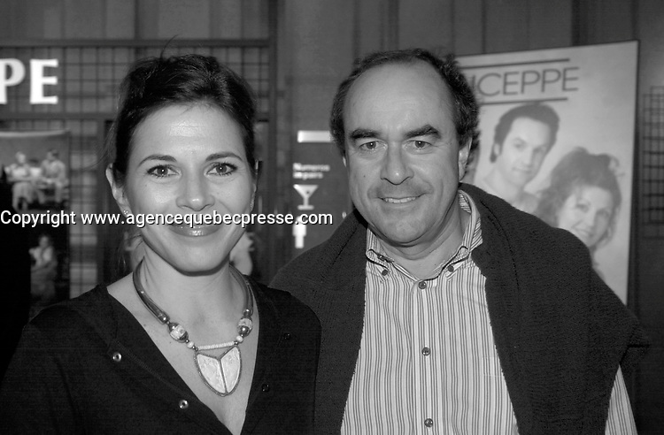 Sept 12 2003, Montreal, Quebec, CANADA<br /> <br /> Myreille Deyglun (L) and her husband (R) at the Jean Duceppe (theater troup)'s Premiere of LA MENAGERIE DE VERRE   SEpt 12 2003<br /> <br /> <br /> Photo by Pierre Roussel - Images Distribution<br /> (c) 2003, Pierre Roussel<br /> <br /> all our pcan be seen on www.photoreflect.com