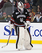 Chris Rawlings (NU - 37) - The Boston College Eagles defeated the Northeastern University Huskies 6-3 on Monday, February 11, 2013, at TD Garden in Boston, Massachusetts.