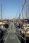 Marina and boats at their moorings, Mogan harbour, Gran Canaria.