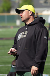 Borah head coach Jeremy Dovel at the YMCA Track and Field Invite on April 28, 2012 at Rocky Mountain High School, Meridian, Idaho.