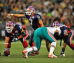 7 December 2008: Buffalo Bills' quarterback J.P. Losman calls a play in the first quarter against the Miami Dolphins in the first regular season NFL game ever played in Canada. The Dolphins defeated the Bills 16-3 at the Rogers Centre in Toronto, Ontario. ..Mandatory Photo Credit: Ed Wolfstein Photo
