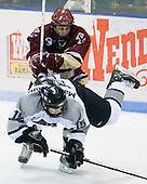 Nate Gerbe (BC 9), Kyle MacKinnon (Providence 15) - The Boston College Eagles and Providence Friars played to a 2-2 tie on Saturday, March 1, 2008 at Schneider Arena in Providence, Rhode Island.