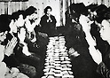 Undated - Group breakfast of Japanese citizens during the Pacific campaigns of World War II from 1937 to 1945. (Photo by Kingendai Photo Library/AFLO)