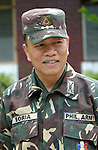 Colonel Pedro Soria, commanding officer of the 602 infantry brigade, is a Philippine army officer who has participated in peacebuilding seminars sponsored by Catholic Relief Services.