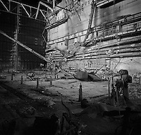 Chernobyl, Ukraine, Ocober 1995..The explosion at the Chernobyl Nuclear Power Plant on April 26 1986 was the worst nuclear accident in history..Ruins inside the sarcophagus enclosing Reactor No 4.