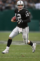 OAKLAND, CA - Quarterback Josh McCown of the Oakland Raiders in action during a game against the Indianapolis Colts at McAfee Coliseum in Oakland, California on December 16, 2007. The Colts beat the Raiders 21-14. Photo by Brad Mangin