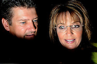 ATLANTA, GA - August 9, 2010: Sarah and Todd Palin greet supporters after Sarah Palin endorsied Karen Handel in the Georgia Republican Gubernatorial Runoff for governor at the Buckhead InterContinental Hotel.