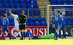 St Johnstone v Motherwell...11.09.10  .John Sutton makes it 2-0.Picture by Graeme Hart..Copyright Perthshire Picture Agency.Tel: 01738 623350  Mobile: 07990 594431