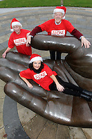 NO FEE PICTURES.30/11/11 Fair City Star Ciara O'Callaghan (Yvonne Doyle) Florence O'Neill and Reg Lacey, who use ALONE, at the launch of ALONE Christmas Campaign in Dublin. Pictures:Arthur Carron/Collins