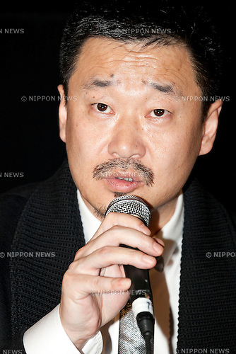 """Actor Wang Jingchun attends the Talk Show of the movie """"To Live and Die in Ordos"""" at the 26th Tokyo International Film Festival 2013 in Roppongi Hills Arena, Tokyo, Japan, October 21, 2013. (Photo by Rodrigo Reyes Marin/AFLO)"""