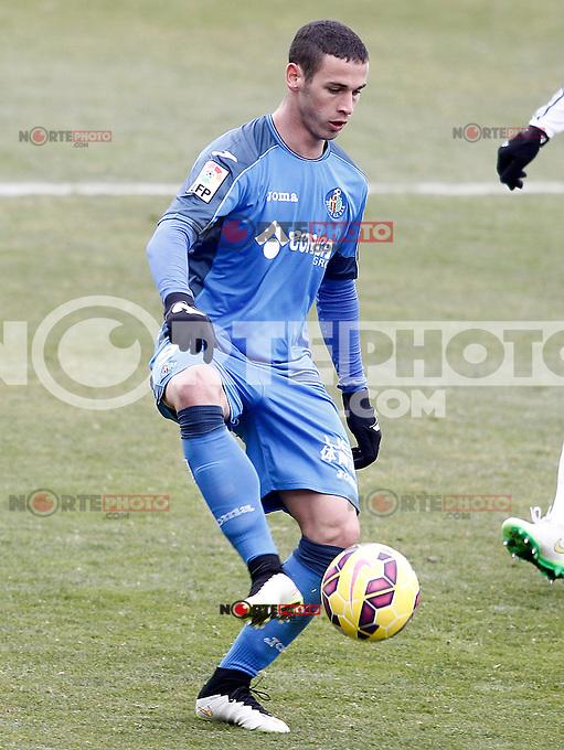 Getafe's Alvaro Vazquez during La Liga match.January 18,2013. (ALTERPHOTOS/Acero) /NortePhoto<br /> NortePhoto.com