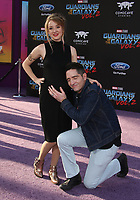 HOLLYWOOD, CA - April 19: David Dastmalchian, Evelyn Leigh, At Premiere Of Disney And Marvel's &quot;Guardians Of The Galaxy Vol. 2&quot; At The Dolby Theatre  In California on April 19, 2017. <br /> CAP/MPI/FS<br /> &copy;FS/MPI/Capital Pictures