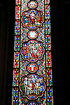 Europe, France, Lille. Sainte Chapelle window of Lille Cathedral.
