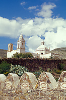 Templo de Guadalupe church in the 19th-century  silver-mining town of Real de Catorce, San Luis Potosi state, Mexico. Real de Catorce became a virtual ghost town during the early part of the 20th century. It has recently become a popuar destination for travellers.