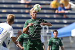 31 August 2014: Stetson's Gianluca Carbone. The Duke University Blue Devils hosted the Stetson University Hatters at Koskinen Stadium in Durham, North Carolina in a 2014 NCAA Division I Men's Soccer match. Duke won the game 8-2.