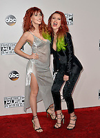 LOS ANGELES, CA - NOVEMBER 20: Dani Thorne, Bella Thorne at the 44th Annual American Music Awards at the Microsoft Theatre in Los Angeles, California on November 20, 2016. Credit: Koi Sojer/Snap'N U Photos/MediaPunch