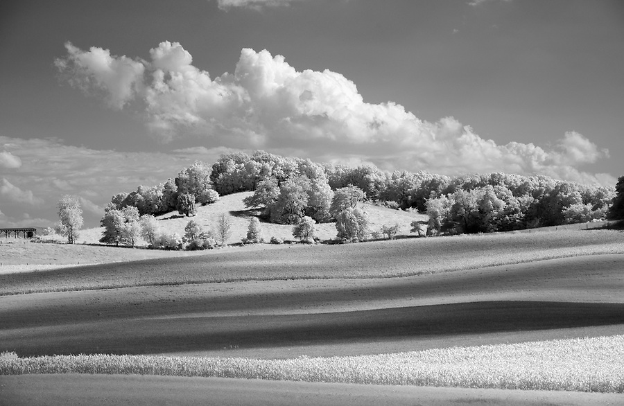 Orange County, Virginia photographed in infrared. Photo/Andrew Shurtleff