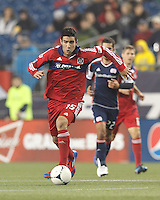 Chicago Fire midfielder Orr Barouch (15) on the attack. In a Major League Soccer (MLS) match, the New England Revolution defeated Chicago Fire, 2-0, at Gillette Stadium on June 2, 2012.
