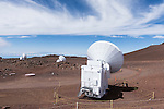 Mauna Kea, Big Island of Hawaii, Hawaii; 3 Submillimeter Radio Telescopes located at the summit of the Mauna Kea Observatories (MKO), currently there are 13 independent multi-national astronomical research facilities located on the summit. Mauna Kea's altitude and isolation in the middle of the Pacific ocean make it an ideal location for astronomical observation.